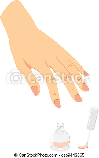 French manicure and nail enamel - csp9443665