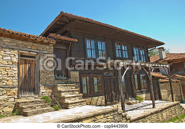 Bulgarian revival house - csp9443906