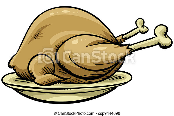 Chicken Meat Drawing Cartoon Roast Chicken