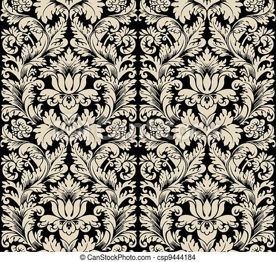 Damask semless silk - csp9444184