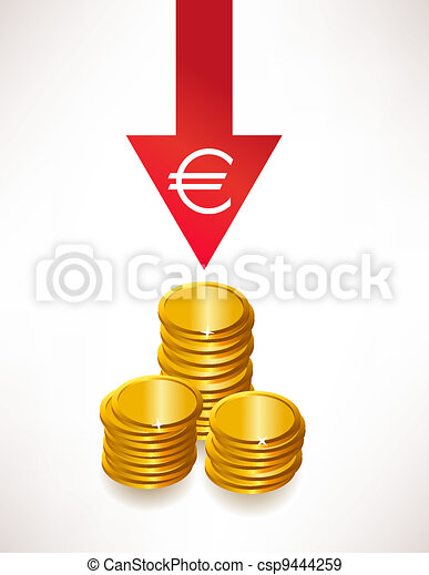 The concept of depreciation of money. Euro - csp9444259