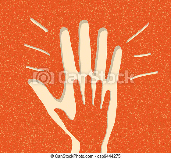 Joyful Applause. vector background - csp9444275
