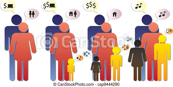 Family graphic - different phases & changing needs - csp9444290