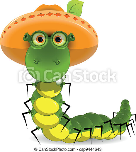 caterpillar in the hat - csp9444643
