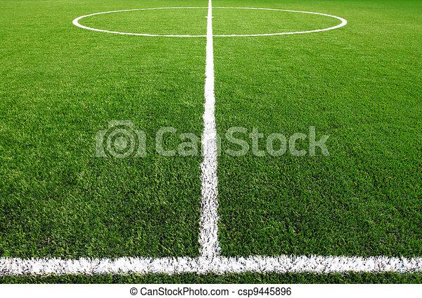 soccer field grass  - csp9445896
