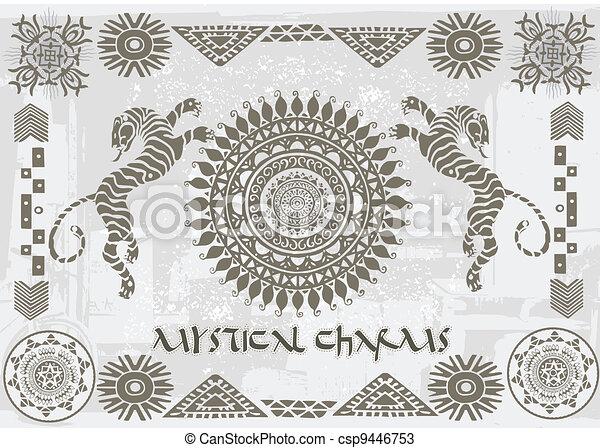 Mystical charm tiger - csp9446753