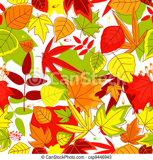 Autumnal seamless pattern - csp9446943