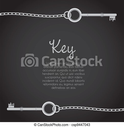 old keys with link chain  - csp9447043