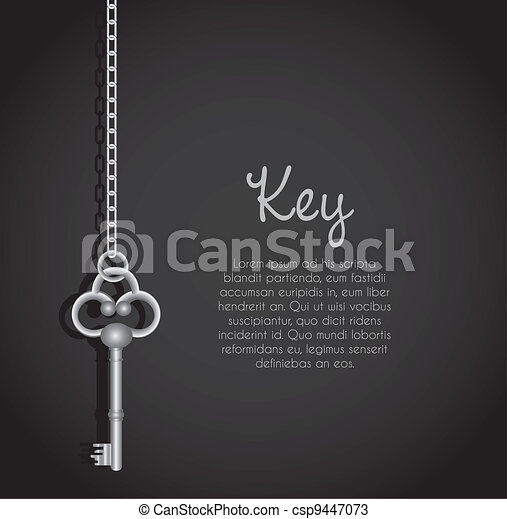 old keys with link chain - csp9447073
