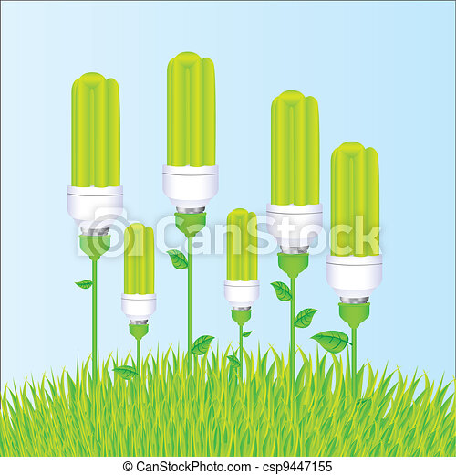 planting of ecological bulb - csp9447155