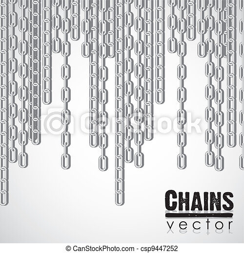 silver link chain dangling - csp9447252