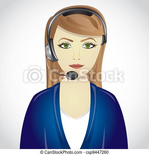 blue suit operator - csp9447260