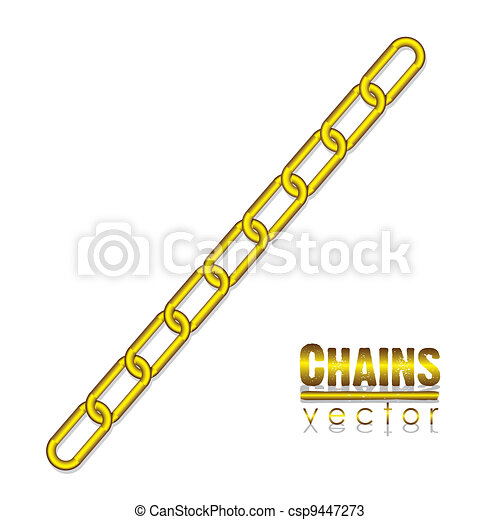 gold link chain - csp9447273