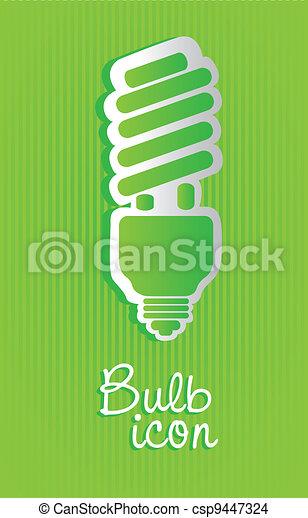 Saving bulb label  - csp9447324