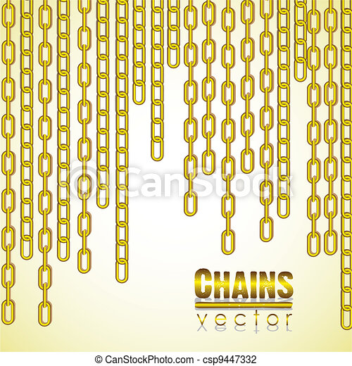 gold link chain dangling - csp9447332