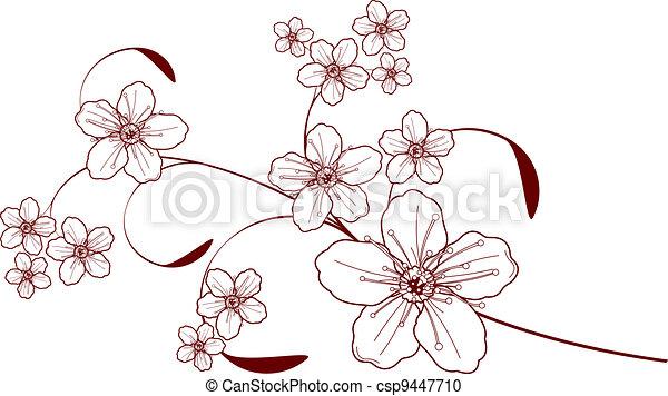 Cherry blossom design  - csp9447710