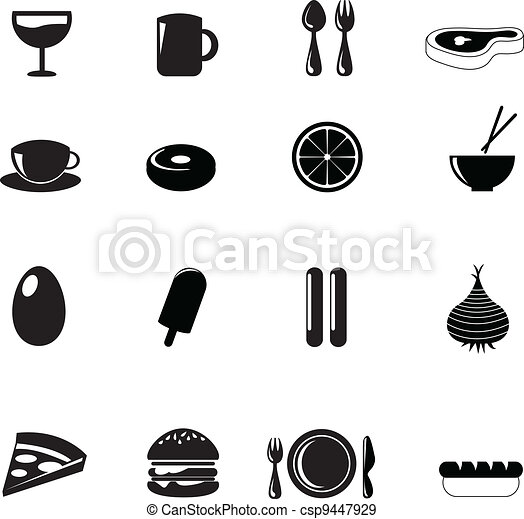 food icons - csp9447929