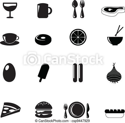 food icons - csp9447929