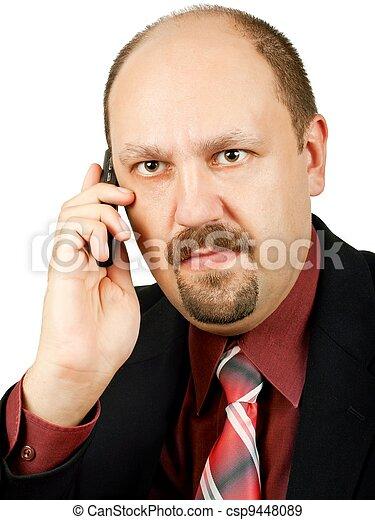 深刻, ビジネスマン - csp9448089 深刻, ビジネスマン, ∥で∥, 狂気, 目,