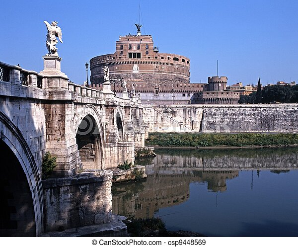 angelo, castelo, Itália, Roma,  sant - csp9448569