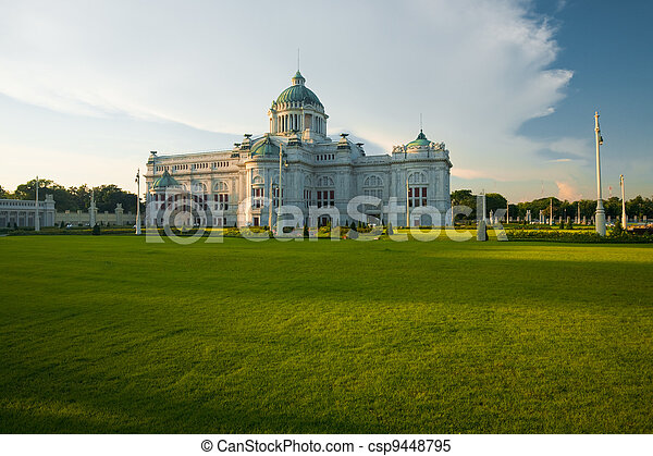 Ananta Samakhom Throne Hall Yard H - csp9448795