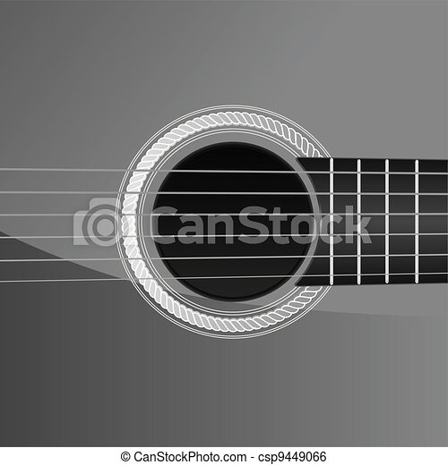 acoustic guitar detail - csp9449066