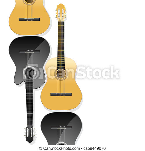 guitars background - csp9449076