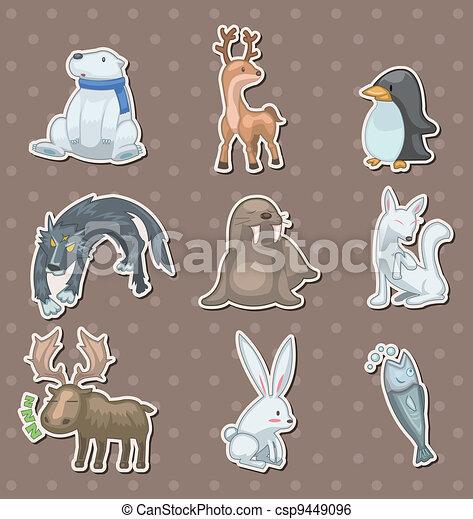 winter animal  stickers - csp9449096