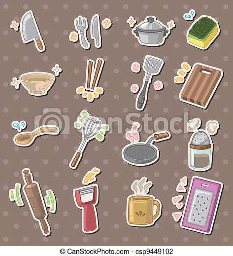 Illustration vecteur de outillage autocollants cuisine for Outillage cuisine