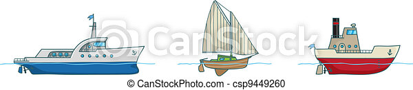 Cartoon collection.Three ships - csp9449260