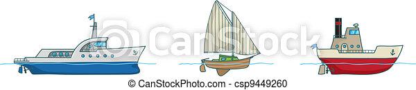 Cartoon collection.Three ships - csp9449260