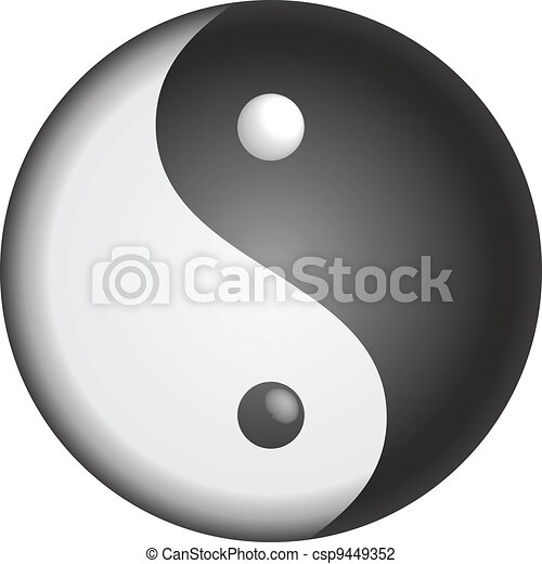 Yin Yang vector symbol - csp9449352