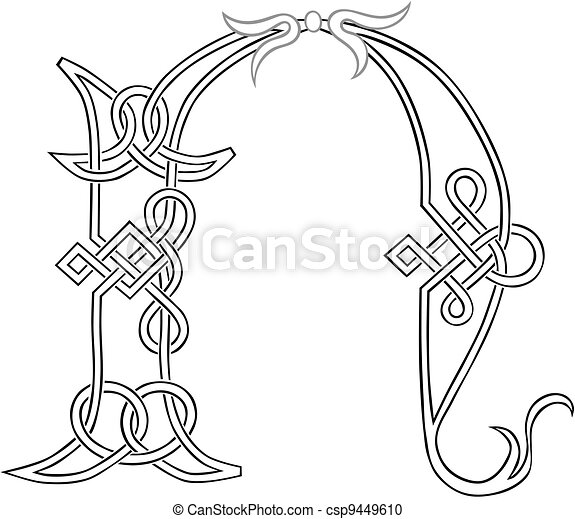 Celtic Knot-work N - csp9449610