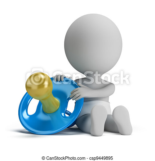3d small people - child and the pacifier - csp9449895