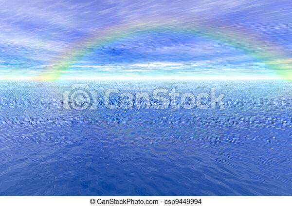 Rainbow above the sea - csp9449994