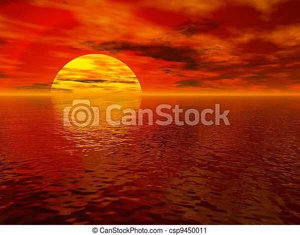 Sea sunset - csp9450011