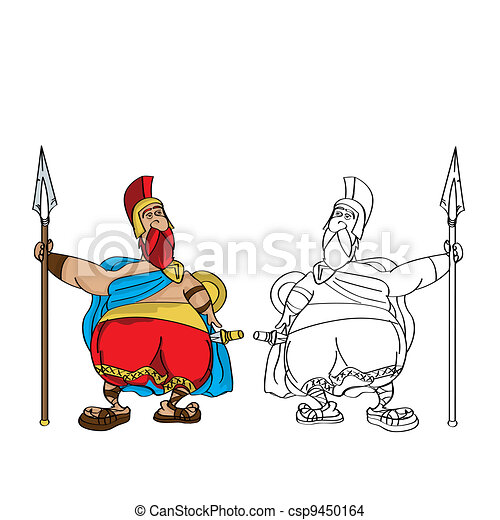 Fat Roman cartoon - csp9450164