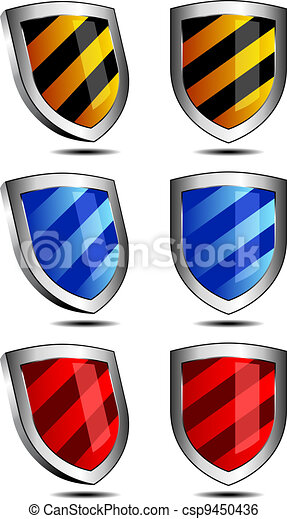 3D and 2D Shields - csp9450436