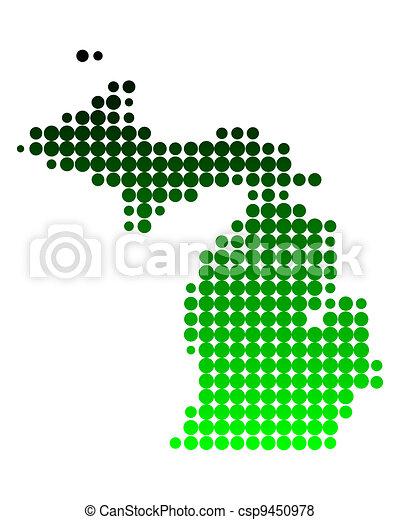 Map of Michigan - csp9450978