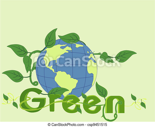 Go Green in beauty of the world!! - csp9451515