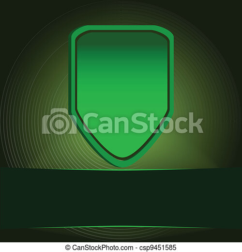 Green protection shield  - csp9451585