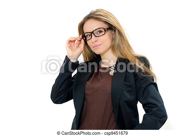 woman in glasses - csp9451679