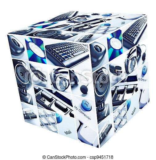 collage, tecnologia - csp9451718