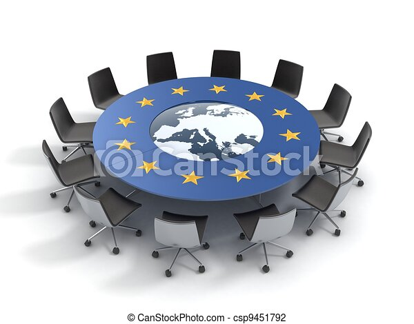 european union round table   - csp9451792