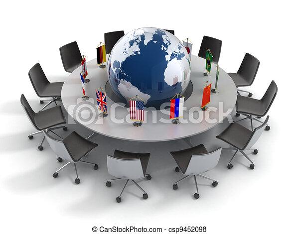 política,  global, naciones, unido - csp9452098