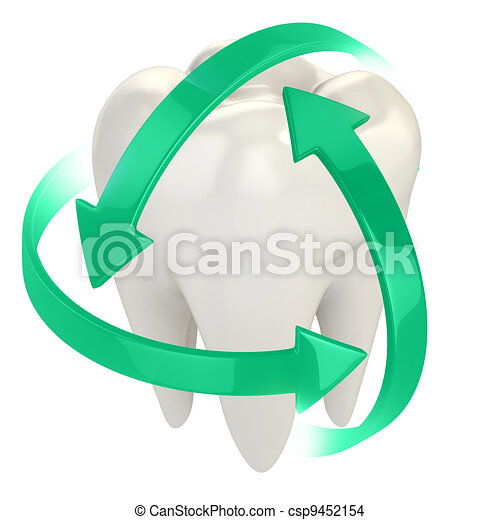 teeth protection 3d concept - csp9452154
