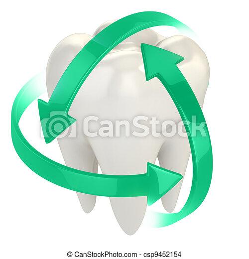 teeth protection 3d concept - csp9452154