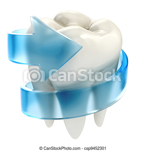 teeth protection 3d concept - csp9452301