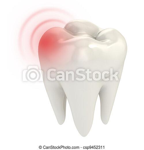 toothache 3d concept - csp9452311