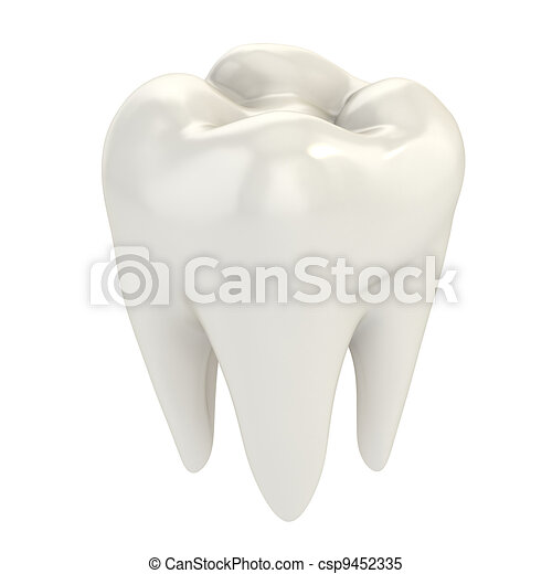 isolated tooth - csp9452335